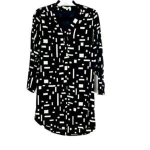 SALE 8/$35 JADE PRINT SHIRT DRESS EUC